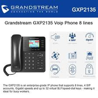 GRANDSTEAM-GXP2135(8 Lines, 4 SIP Accounts, PoE + GigE,)