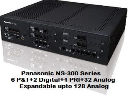 Panasonic KX-NS300 Hybrid IP-PBX System with 32 Analog + 1 PRI