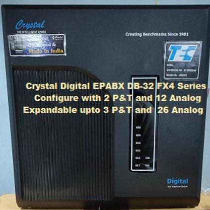 CRYSTAL DIGITAL EPABX DB-32 FX4-2 P&T AND 12 ANALOG