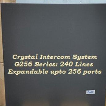 CRYSTAL G256 SERIES INTERCOM SYSTEM- 240 Lines