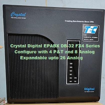 CRYSTAL DIGITAL EPABX DB-32 FX4 -4 P&T AND 8 ANALOG