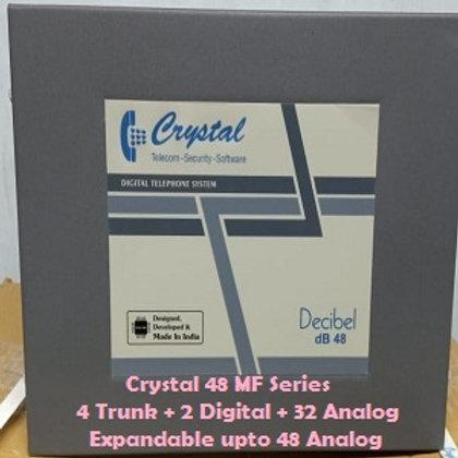 CRYSTAL DIGITAL EPABX MF-48 : 4 TRUNK -2 DIGITAL - 32ANALOG