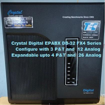 CRYSTAL DIGITAL EPABX DB-32 FX4 -3 P&T AND 12 ANALOG