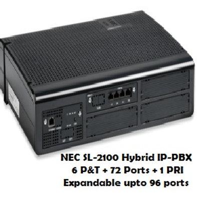 NEC SL-2100 Hybrid EPABX System 6 P&T +72 Ports