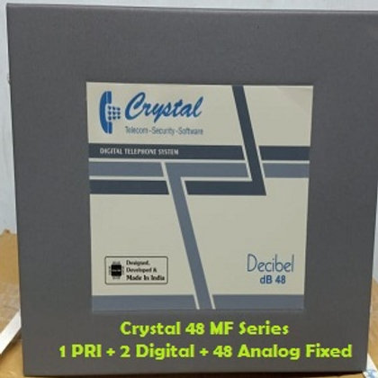 CRYSTAL DIGITAL EPABX MF-48 : 1 PRI -2 DIGITAL - 48 ANALOG