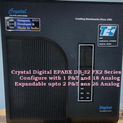CRYSTAL DIGITAL EPABX DB-32 FX2-1 P&T AND 18 ANALOG