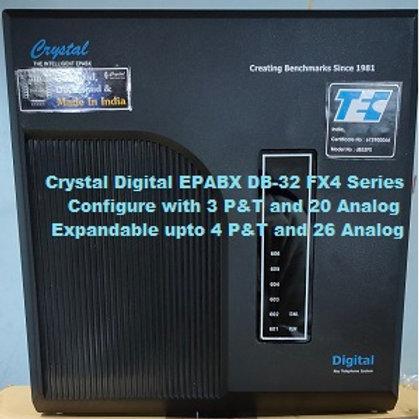 CRYSTAL DIGITAL EPABX DB-32 FX4 -3 P&T AND 20 ANALOG