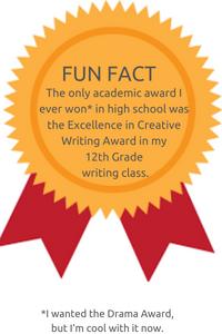 writer award graphic