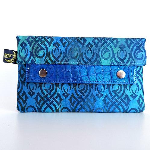Aqua Knots minimalist wallet