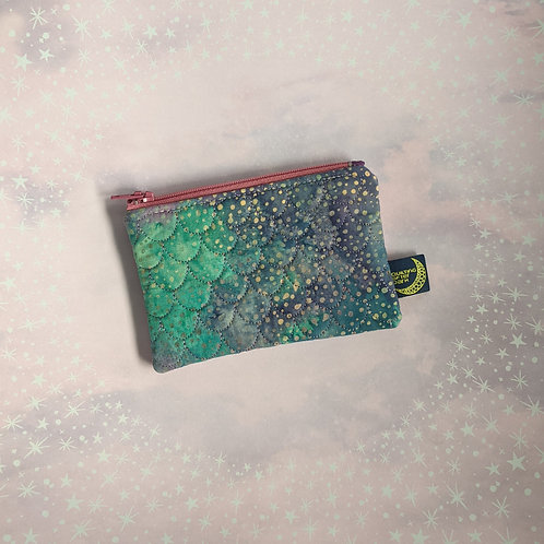 Card pouch - mermaid scales
