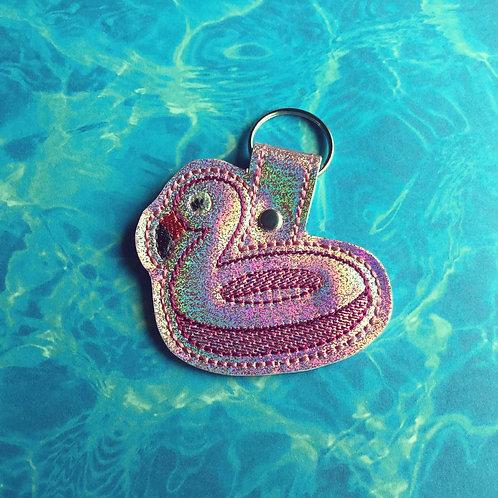 Flamingo Floatie keyfob