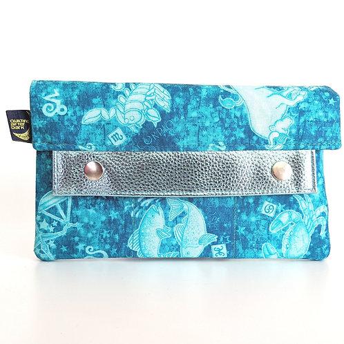 Blue Zodiac minimalist wallet