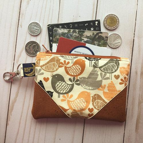 Cork coin purse - birds