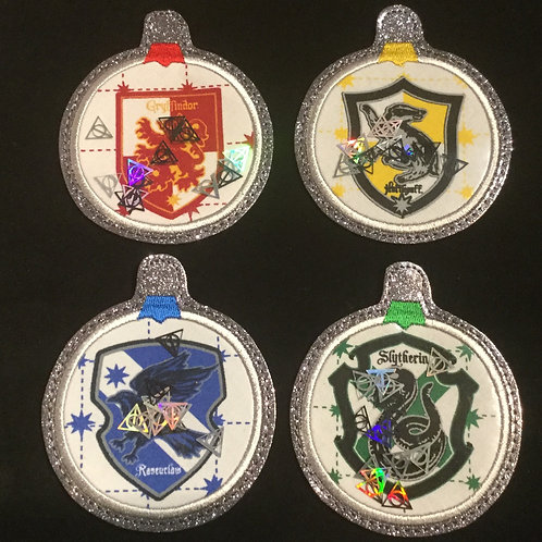 Snow Globe ornaments - Set of 4 Hogwarts Houses