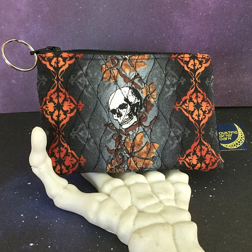 Card pouch - skull baroque