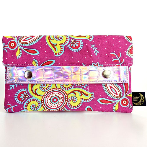 Pink Floral minimalist wallet