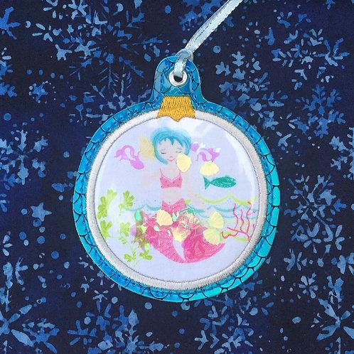 Snow Globe ornament - mermaid 1