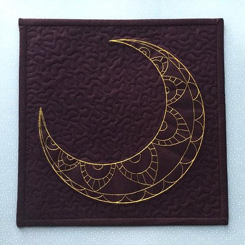 Crescent Moon mini quilt