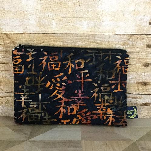 Zip pouch - Asian batik