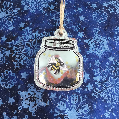 Honeybee jar ornament