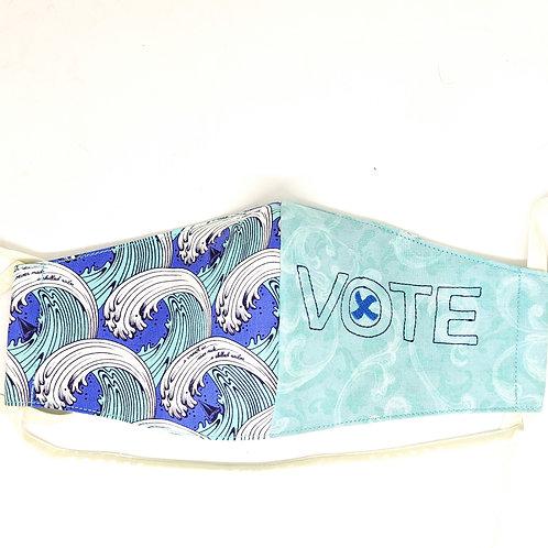 Embroidered Filter-Pocket Mask - Vote