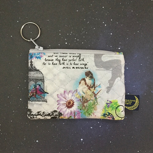 Card pouch - birdsong