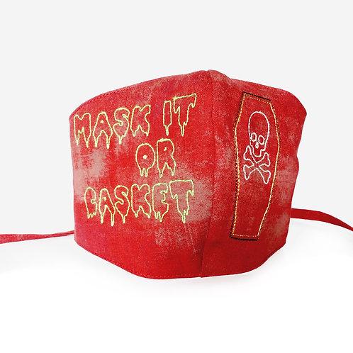 Embroidered Filter-Pocket Mask - Casket