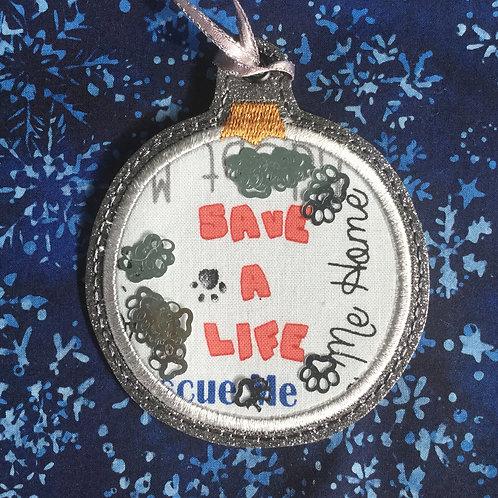 Snow Globe ornament - Save a Life