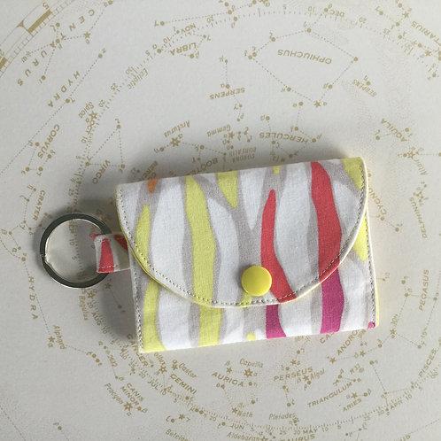 Keyring card sleeve - neon