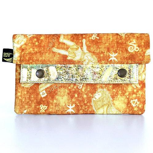 Gold Zodiac minimalist wallet
