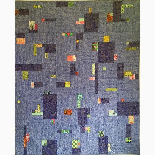 Periwinkle Pixels quilt