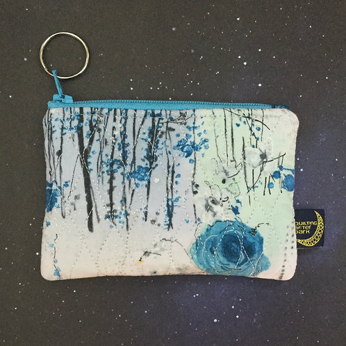 Card pouch - winter rose