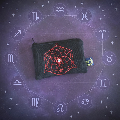 Sacred Geometry card pouch