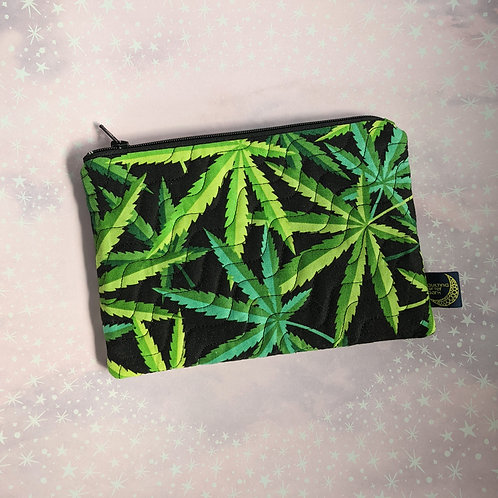 Zip pouch - cannabis