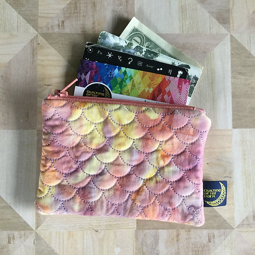 Card pouch - sunset scales