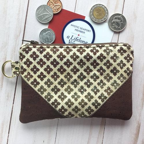 Cork coin purse - mosaic tile