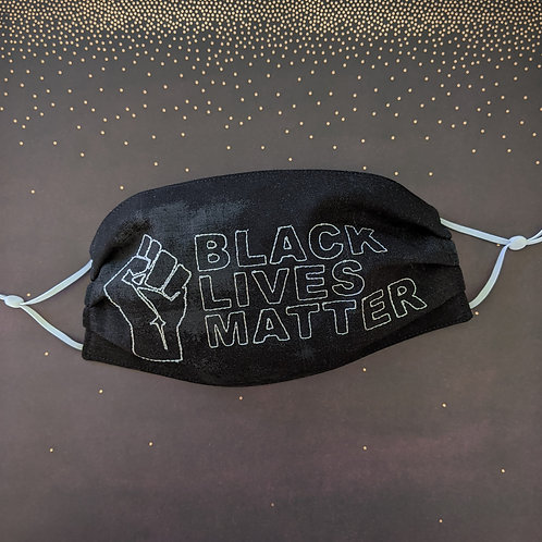 BLM embroidered mask