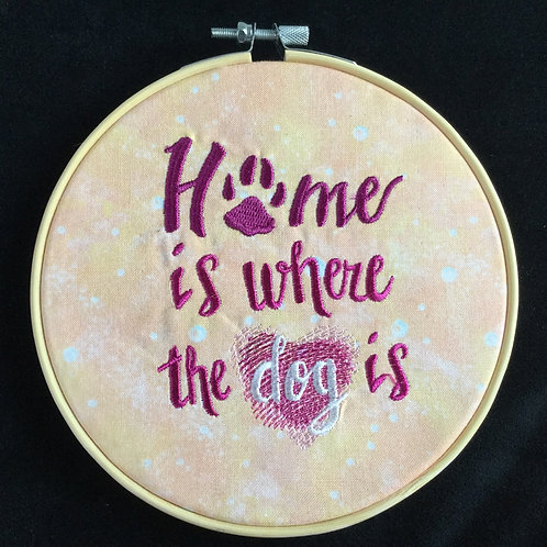 Home Is Where the Dog Is embroidery