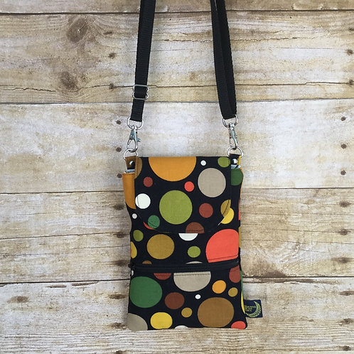 Phone crossbody - autumn circles
