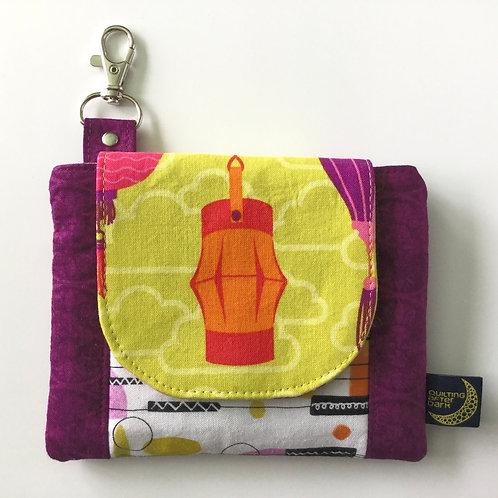 Mini clip wallet - lanterns