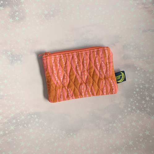 Card pouch - coral waves