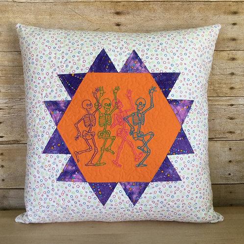 Dancing Skeletons pillow cover