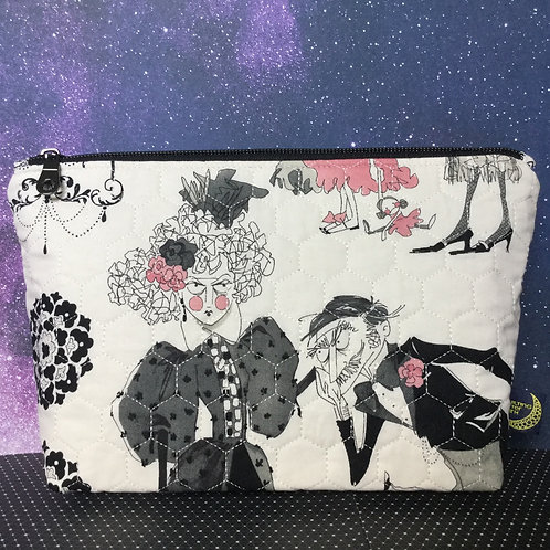 Quilted cosmetics bag - Ghastly romance