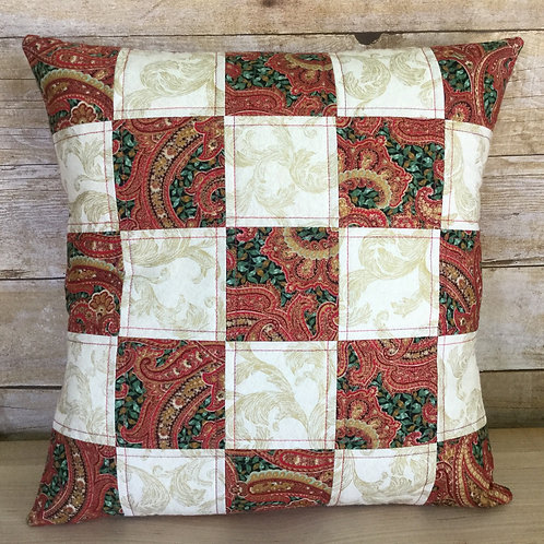 Christmas Checkerboard pillow cover