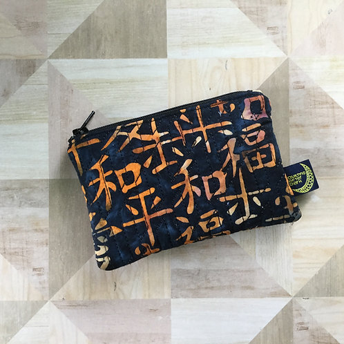 Card pouch - Asian batik