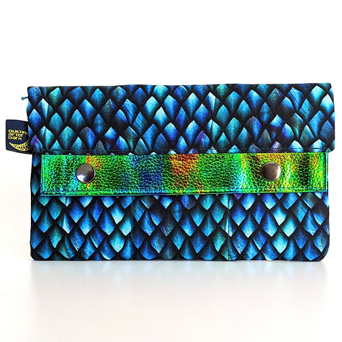 Turquoise Scales minimalist wallet