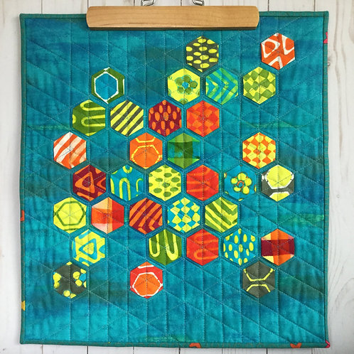 Tropical Hex wall hanging