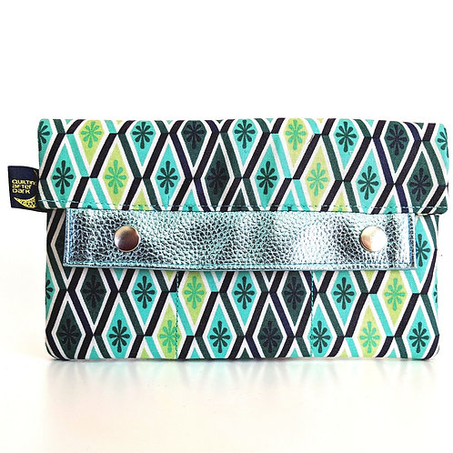 Green Diamonds minimalist wallet