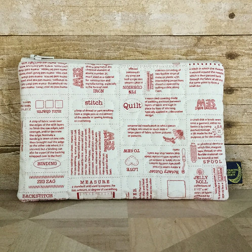Zip pouch - sewing dictionary