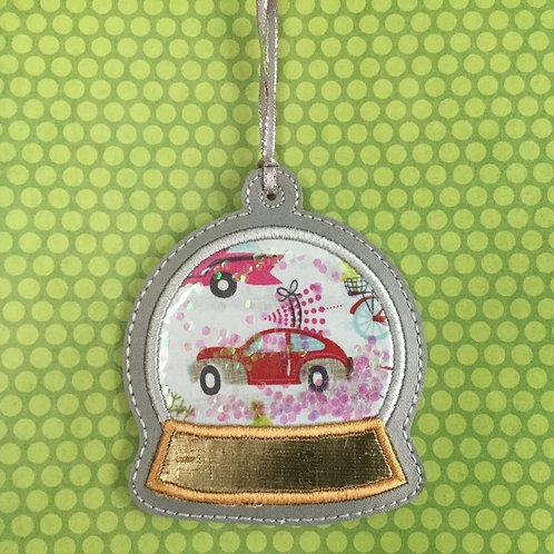 Snow Globe ornament - Red Car